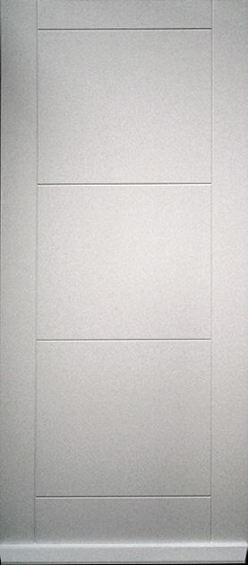 portone pantografato laccato bianco