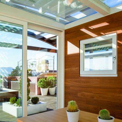 finestra legno 68x86 Linear Plus stile moderno