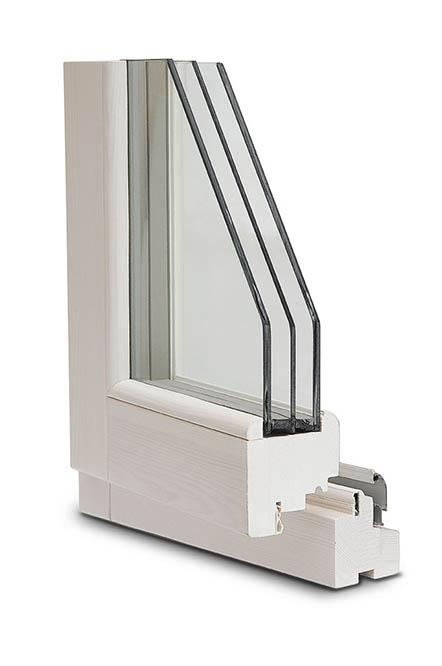 finestra legno 80x86 Clima