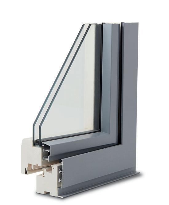 finestra legno alluminio complanare esterno