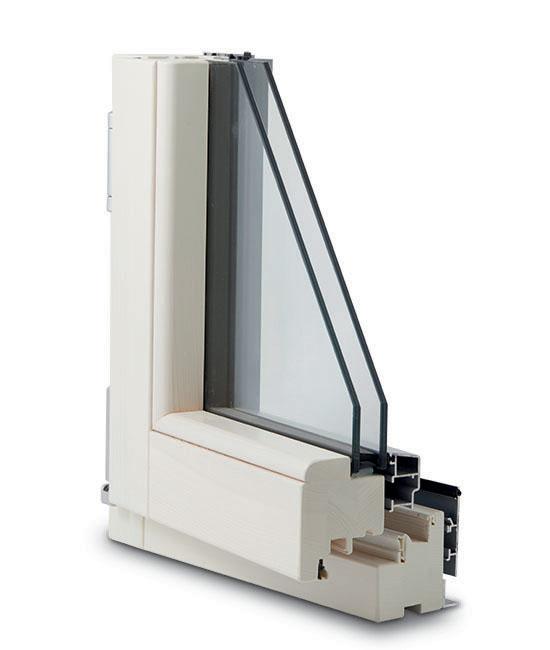 finestra legno alluminio complanare interno