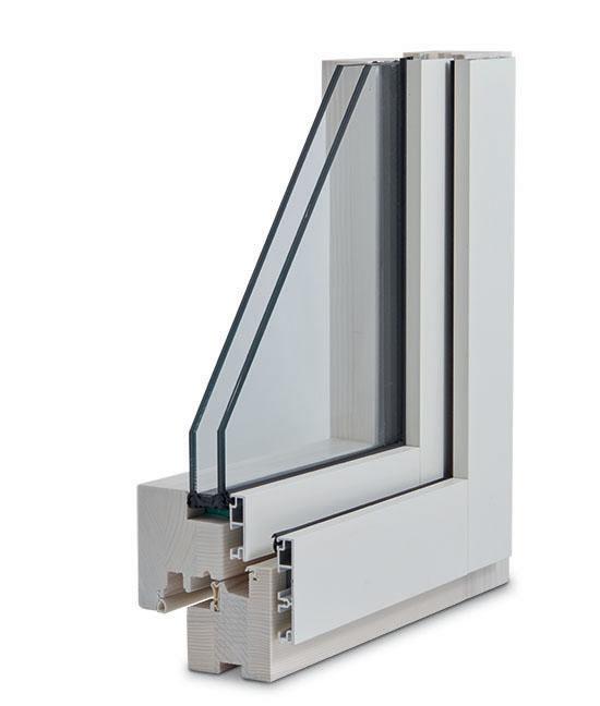 finestra legno alluminio slim esterno