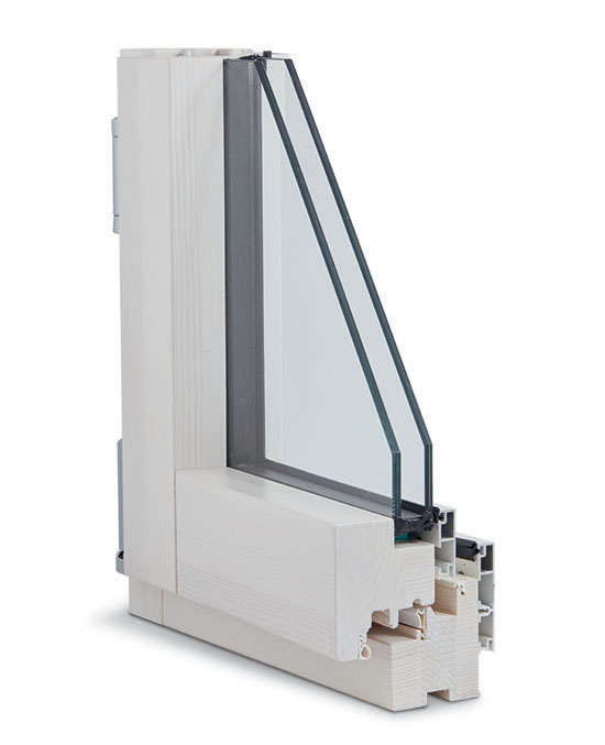 finestra legno alluminio slim interno
