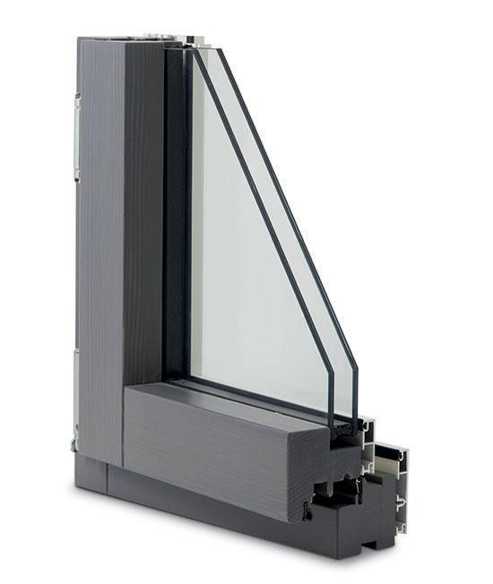 finestra legno alluminio slim lux interno