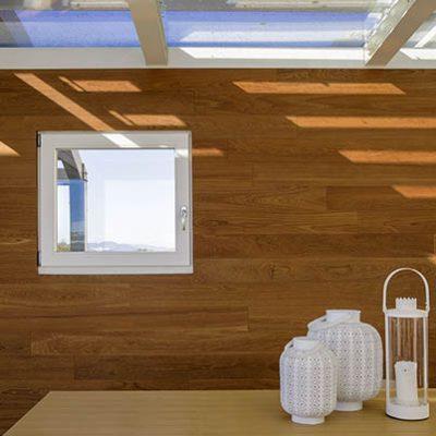 finestra legno laccata ambientata